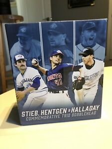 Blue Jays Bobblehead trio, 40th season; Stieb, Hentgen, Halladay