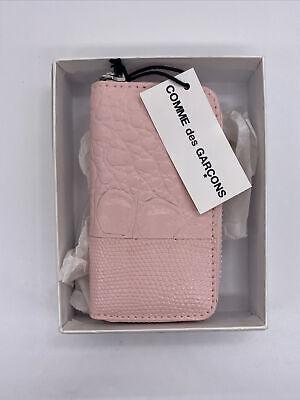 COMME DES GARÇONS Pink Animal Print Patchwork Mini Wallet Coin Purse