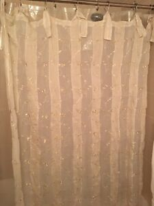Beautiful Floral Curtains (x2) sheer
