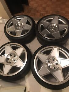 19' Wheels & Tires Staggered 5x120  Vente Rapide 800$