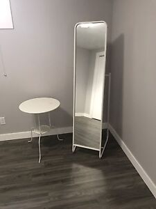 IKEA bedside table and mirror