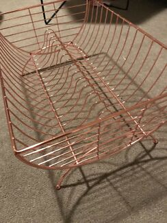 Rose gold copper dish rack never used!!
