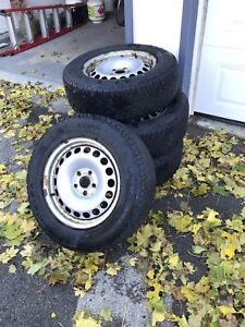 Set of 4 Gislaved Nord Frost 100 SUV tires with rims