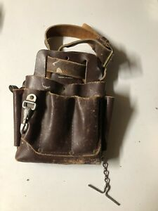 Leather electrical pouch