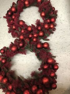 Two large Christmas wreath