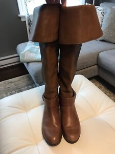 Aldo over-the-knee cognac brown boots - size 6.5 - like new