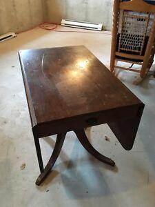 Gibbard drop leaf table / antique
