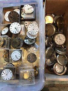 Steampunk project? TONS of antique pocket watches and parts