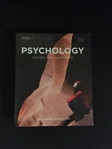 Psychology: Themes and Variations 3rd edition
