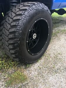 20x12 wheels with 37 tires 5x5.5  2100 obo