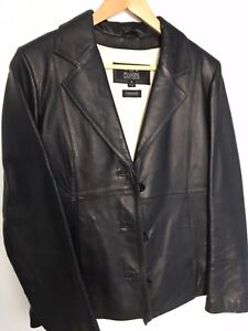 Women's size small black leather jacket