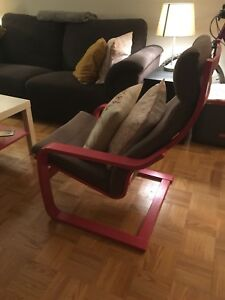 IKEA Pouang Chair, pink