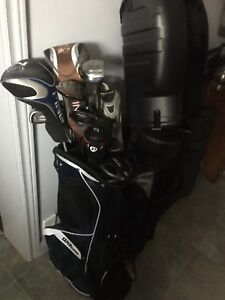 Golf clubs.  Trade for tube guitar amp possible or strat