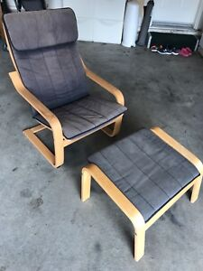 Free ikea poang armchair with stool