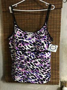 Swimsuits for All Beach Belle TANKINI Swimsuit Top Sz. 24 NWT