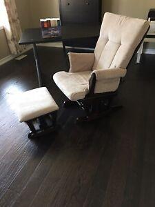 Nursery chair with ottoman