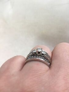 Diamond Ring with 2 channel set diamond bands