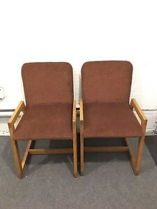 Solid Vintage Oak/Fabric Chairs