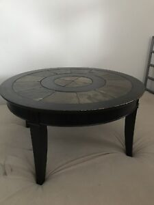 Rustic wood coffee and end table