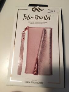 Case-Mate Wristlet Folio - Leather - iPhone X - Rose Gold