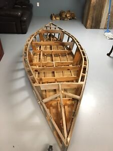 Wooden sail boat