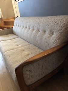 Teak couch and chairs