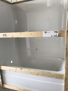 1 pce Standard White Tub with walls