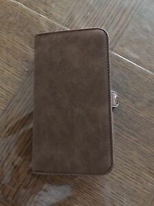 Brown leather 2 in 1 wallet/phone case