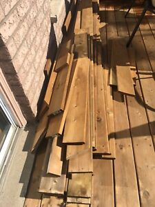 Wood fence boards and deck boards