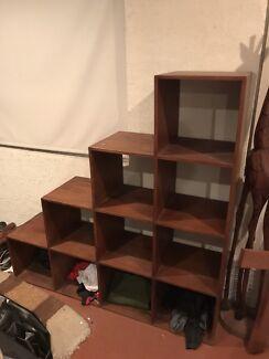 Wooden Cube Storage