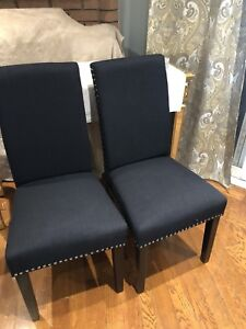 New Black dining room chairs