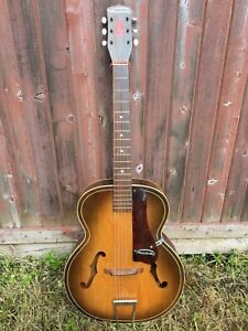 Vintage 1950's Harmony Archtop Acoustic Guitar