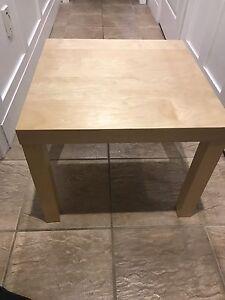 Light wooden side table
