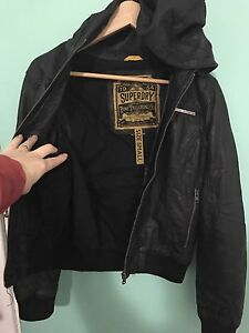 Superdry Ladies leather jacket distressed vintage North Beach Stirling Area Preview