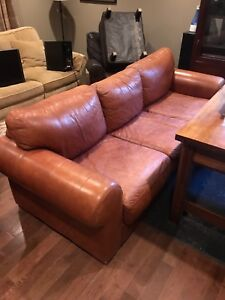 High end leather sofa from chesterfield shop