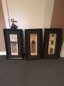 Framed architecture prints