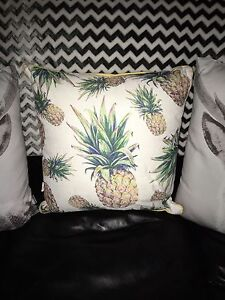 Pineapple couch bed cushion NWT