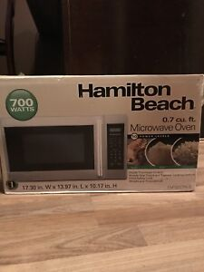 Barely used, excellent condition - microwave