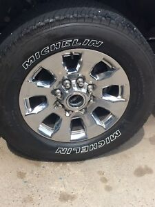 2017 Ford F250 rims and tires