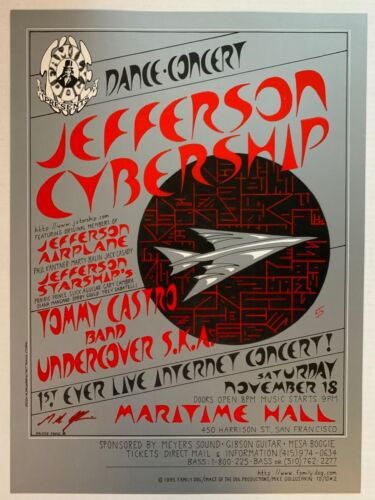 Jefferson Cybership Starship Family Dog Concert Poster