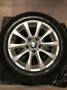 Michelin X-Ice Xi3 winter tires 205/60/16 on BMW replica alloys
