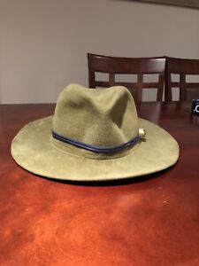 Green Suede Leather Woman Hat