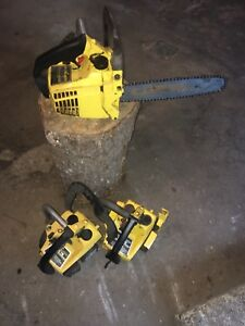 Lot of chainsaws