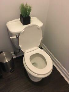 Perfect condition white toilet