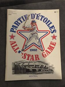 Official program 1982 MLB All star game Montreal