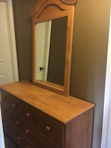 Dresser with large mirror for sale