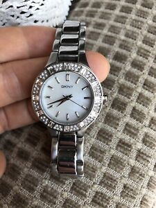 Women's DKNY chambers silver dial stainless steel watch RRP $249