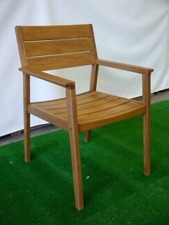 New Capri Ash Timber Dining Chairs Outdoor Furniture Garden Patio