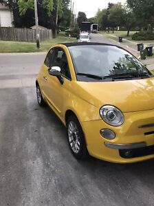 2015 Fiat 500 C Cabriolet Heated Leather 48000km