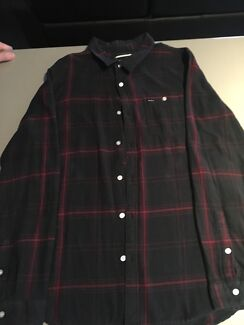 RVCA Red and Black Flannel - Size L